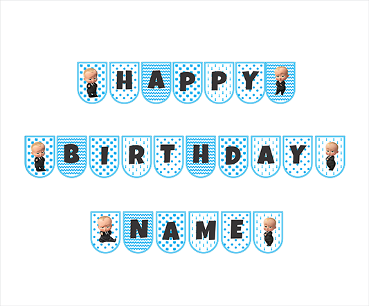 Birthday Banner Bb Boss Baby Birthday Party Supplies Store Box N Bunting Theme Birthday Party Supplies Birthday Celebration